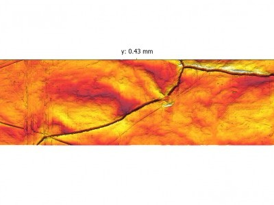 Extended-Range AFM image of laser-melted tin surface